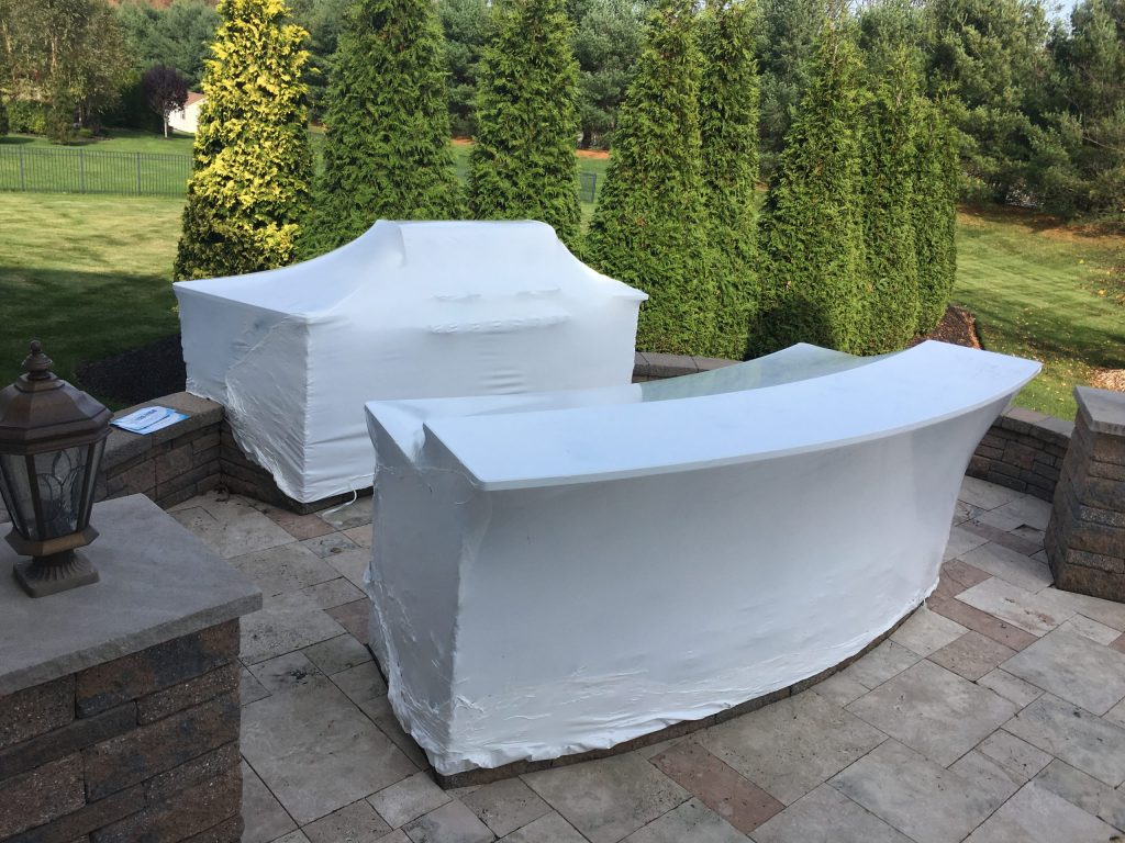 outdoor-kitchen-bar-shrink-wrapped